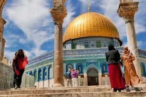 BIJBELS: de Rotskoepel in de oude stad van Jeruzalem.